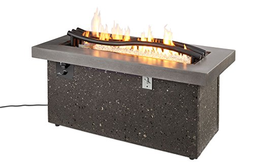 """Boreal Complete Heat Linear Gas Fire Pit Table BCH-1242-LP/NG with Glass Wind Guard 1242 (29""""W x 54""""H x (Boreal Glass)"""