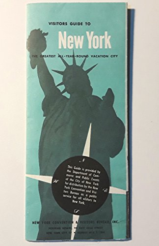 Vintage Original 1960 Visitors Guide Map to New York City