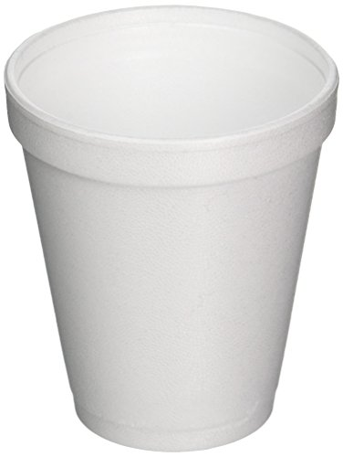 (DART CONTAINER J-Style Styrofoam Drink Cups (1000 Per Case), White, 8 oz)
