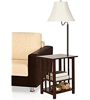 Marville mission style swing arm floor lamp with end table lamp table combination floor lamp table with shelves and swing arm magazine rack table mozeypictures Image collections