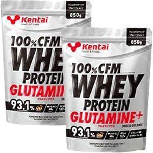 【Kentai】(リニューアル)100%CFM ホエイプロテイン グルタミンプラス マッスルビルディング プレーンタイプ 850g x2個 B01D4VDME2
