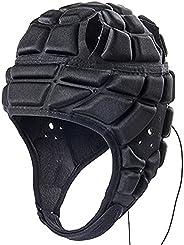 Rugby Helmet Headguards Soccer Rugger Cap,Adjustable Goalie Protective Helmets Goalkeeper Head Protector Soft