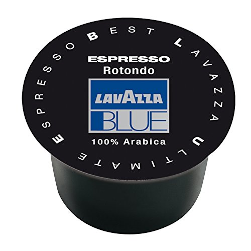 Lavazza BLUE Capsules, Espresso Rotondo Coffee Blend, Dark Roast, 28.2-Ounce Boxes (Pack of 100)