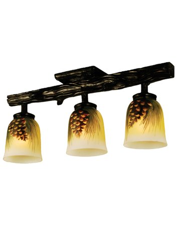 Painted Glass Pinecone Light Fixture - 3