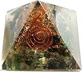 Crystal Cave Moss Agate Natural Stone Orgone Pyramid 50mm - Spiritual Gift - Feng Shui Decor - Meditation Aid - Heart Chakra Healing