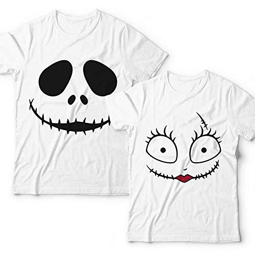 Jack-Skellington-Sally Nightmare Before Christmas Halloween Costume Ghost Couple Shirt Customized Handmade Hoodie/Sweater/Long Sleeve/Tank Top/Premium T-shirt