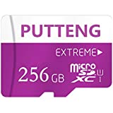 PUTTENG 256GB Micro SD SDXC Card Class 10 Memory Card High Speed Flash Card with SD Adapter (256GB)