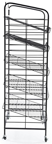 Displays2go Baker's Rack with 5-Adjustable Shelves, 29-Inch by 51-Inch, Steel, Black by Displays2go (Image #3)