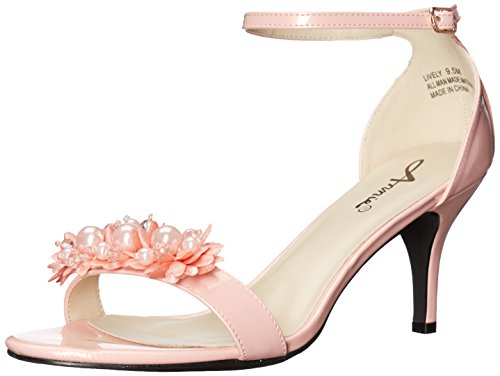Annie Shoes Women's Lively Dress Sandal, Peach, 6.5 M US