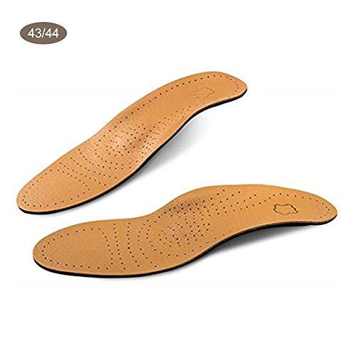 Leder Schuheinlagen Flache Fuß Hohe Fußgewölbe Orthopädische Kissen für Füße Gesundheitspflege Lindert Fersenbogen Schmerzen Plantar Fasciitis für Männer Frauen