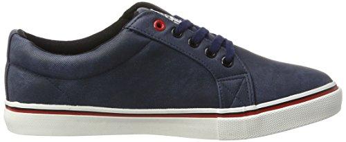 H.I.S Herren Ct19-023 Low-Top Blau (navy line washed textil)