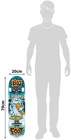 COLORBABYSkateboard en Bois Dimensions de 79 x 20 cm avec axe en Aluminium et Roues en PVC de 50 x 30 mm Big Foot