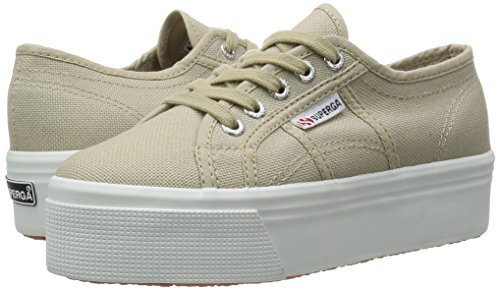 SUPERGA 2790 Cotw Line Up and Down Zapatillas de Lona de Color Beige Lona Zapatos de Lona