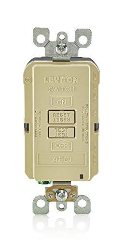 - Leviton AFRBF-I 20-Amp 120-Volt SmartlockPro Outlet Branch Circuit Arc Fault Circuit Interrupter Blank Face Receptacle, Ivory