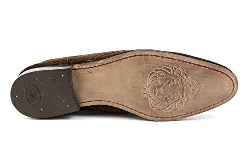 Base London - Zapatos de cordones de Piel para hombre 42 marrón