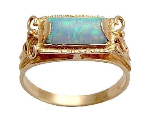 wedding rings amazon 14k gold and opal rectangle gemstone 1011