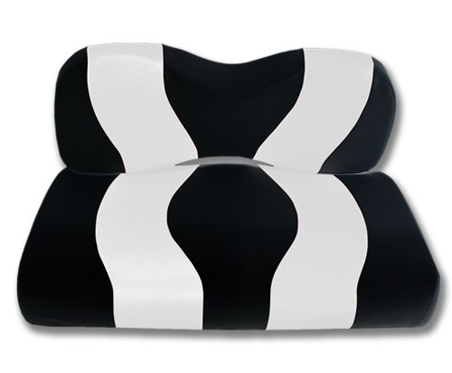 Madjax Wave 2007-Up Black/White Two-Tone Front Seat Cover for Yamaha G29 Drive Golf Carts
