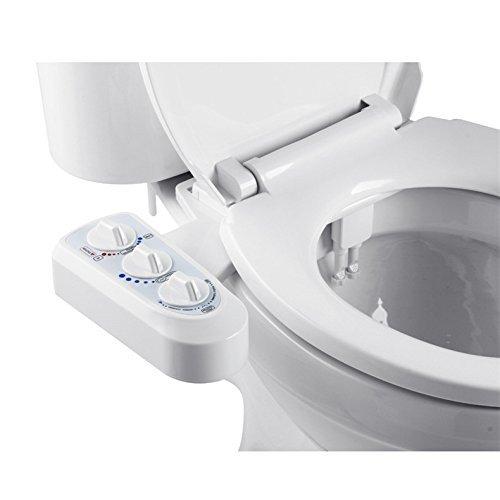 Aozzy non électrique Bidet pour WC,toilettes Self Cleaning double Buse Bidet Spray eau chaude et froide Bidet mécanique,kit avec commande de pression et de température, facile à installer. facile à installer.