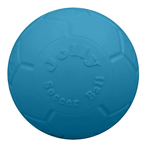 Jolly Pets 8″ Soccer Ball, Ocean Blue, Large/X-Large