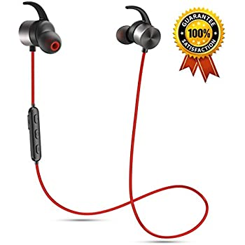 [Upgraded Version] Senbowe Magnetic Bluetooth Headphones,Wireless Bluetooth Headphones/Headset Noise Cancelling Earbuds/ Microphone [ Sports / Running / Gym / Sweatproof ],Secure Fit for Sports