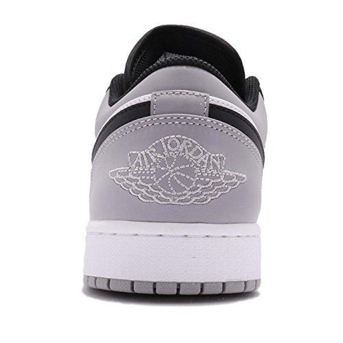 Nike Men's Jordan 1 Black Grey Grey White Atmosphere White Air black Atmosphere Low r5rxqwTg