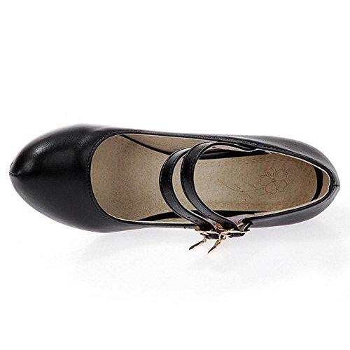 AicciAizzi Fashion Mary Shoes Black Women Jane vAqpRx70A