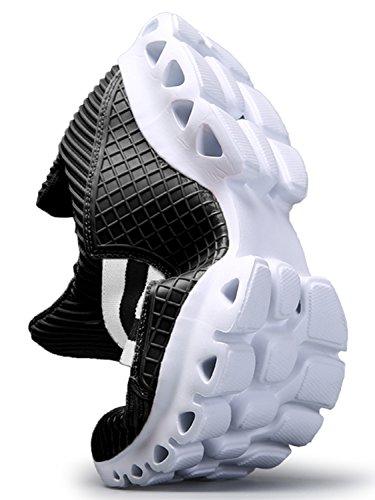 IIIIS-R Zapatos para Correr en Montaña y Asfalto Aire Libre y Deportes Zapatillas de Running Padel para Hombre Hombre Mujer Verano negro