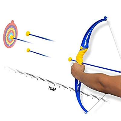 Kids Bow and Arrow Set Practice Suction Cup Arrow Basic Archery Set Outdoor Toy: Kitchen & Dining