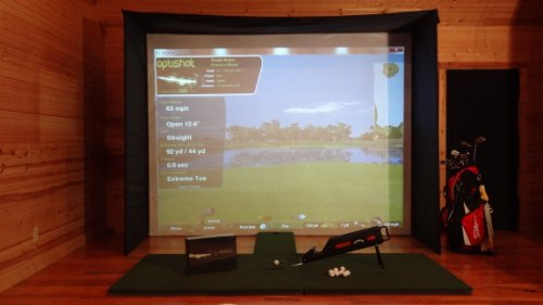"10'6""x8' OPTISHOT Home Virtual Golf Simulator ULTI STUDIO COMBO"
