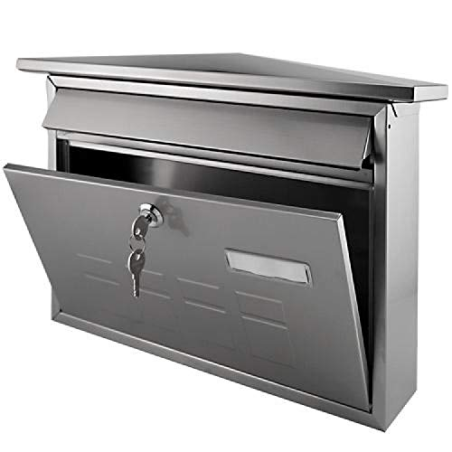 (Naiture Locking Wall-mount Mailbox in Stainless Steel Finish)