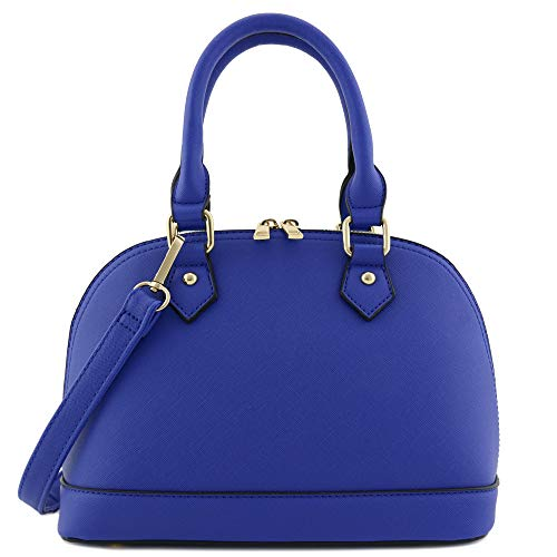 Zip-Around Classic Dome Satchel (Royal Blue) -