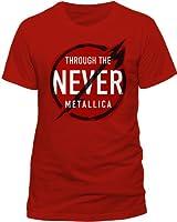 Live Nation Men's Metallica - Never Crew Neck Short Sleeve T-Shirt