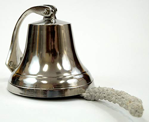 "Coastal Space Designs AL 18440-VC Wall Mountable Ship Bell 6"", Silver"