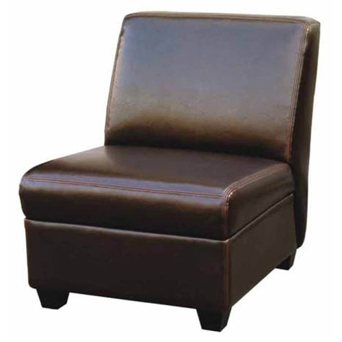 Baxton Studio Armless Espresso Brown Club or Cigar Chair (Armless Club Chair)