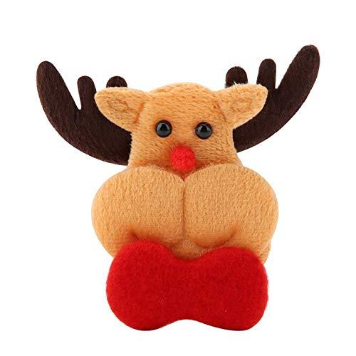 (Pendant & Drop Ornaments - 10pcs Pack Felt Christmas Appliques Ornament Kit Decoration - Christmas & Cartoon Felt Paper Pendant Felt Kit Drop Product Kit Poinsettia Felt Flower Wood Felt Felt)