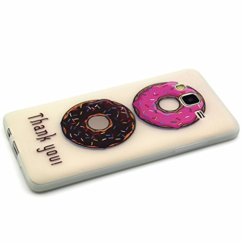 GOCDLJ Carcasa para Samsung Galaxy S6 Edge, Funda para Samsung Galaxy S6 Edge TPU Silicona Transparent Noctilucent Glitter Bling Caja, Alta Calidad Ultra Delgado Fino y Resistente a Caidas con Protect Buñuelos de dos colores