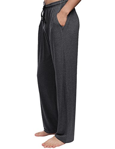 per Pantaloni da del da tutte Aibrou le notte Pantaloni Grigio uomo stagioni pigiama scuro x84XwEEqB