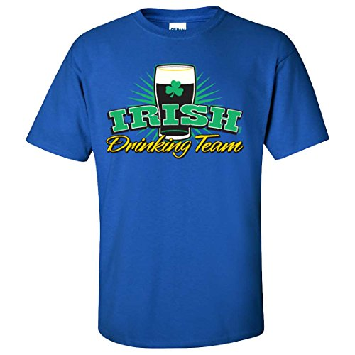 Dolphin Shirt Co Irish Drinking Team Stout T-shirt/tee - Royal Medium