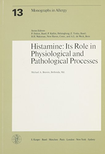 Histamine: It's Role in Physiological and Pathological Processes (Monographs in allergy #13) -  M.A. Beaven