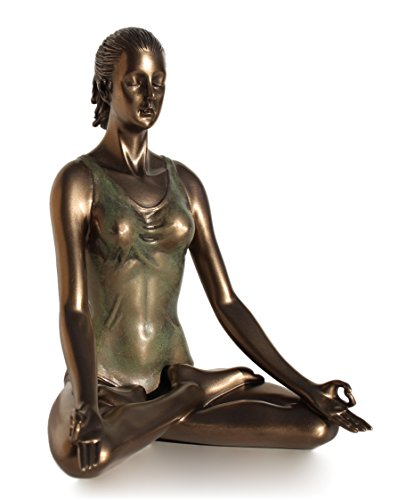 Yoga Lotus Pose Padmasana Statue Figurine Cold Cast Bronze