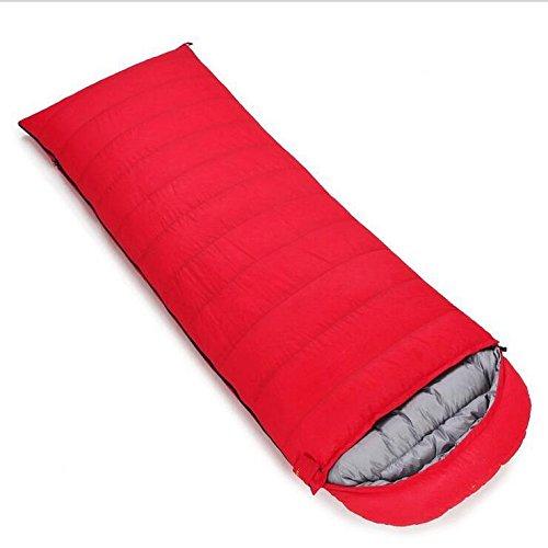 rouge 1500 grams of cashmere Z&HX sportsSacs de Couchage pour Adultes Sachet de d¨¦jeuner enveloppes Sacs de Couchage Sac de Couchage de Canard Blanc