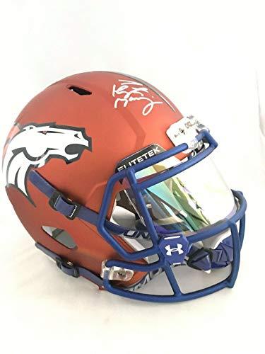 Signed Peyton Manning Helmet - INDY COLTS BLAZE FULL SIZE FANATICS - Fanatics Authentic Certified - Autographed NFL - Autographed Authentic Colts Helmet