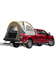 Pickup Truck Box Camping Tent For Standard Cargo Box 6.5ft, Water Resistant with PU 2000mm, Two Person Tent for Camping, Fishing, Road Trip, Floorless Truck Tent With Side Observing Windows and Sunroof, Comes With A Free Camping Lamp (Large)