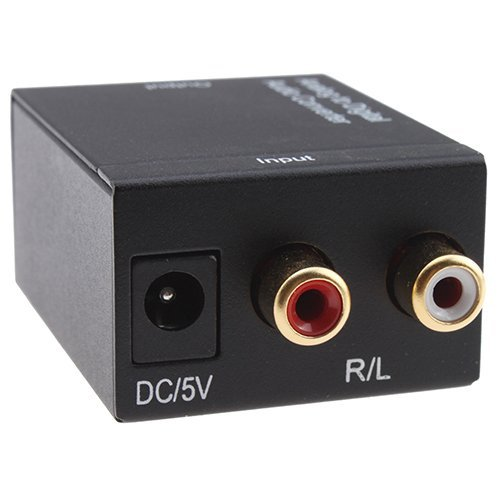 SANOXY Analog to Digital Audio Converter Adapter for audio switching/ Converts Analog Stereo Audio signal from R/L input to Coaxial and Toslink