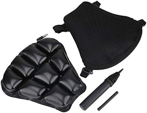 Cuscino Sella Moto Aria uscino Gonfiabile Antiurto in PU Pelle Cuscino Pneumatico per Sfiato della Pressione Adatto alla Maggior Parte dei Sedili XL//16 x 36 x 38CM