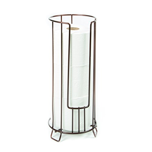 Sturdy Wire Construction Three Roll Reserve Toilet Paper Basket - Bronze