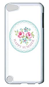 Brian114 Case, iPod Touch 5 Case, iPod Touch 5th Case Cover, Happy Summer Retro Protective Hard PC Back Case for iPod Touch 5 ( white )