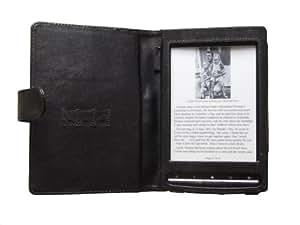 Navitech - Funda De Cuero Sintético Para El eReader Sony PRS T1 Touch Edition Series, Color Negro
