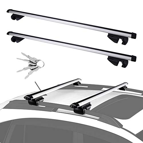 (Universal Cross Bars Roof Rack, Adjustable for Maximum 44