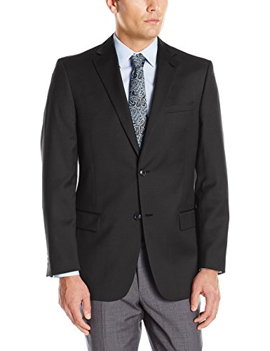 (Palm Beach Men's Bishop Suit Separate Jacket, Black, 52)